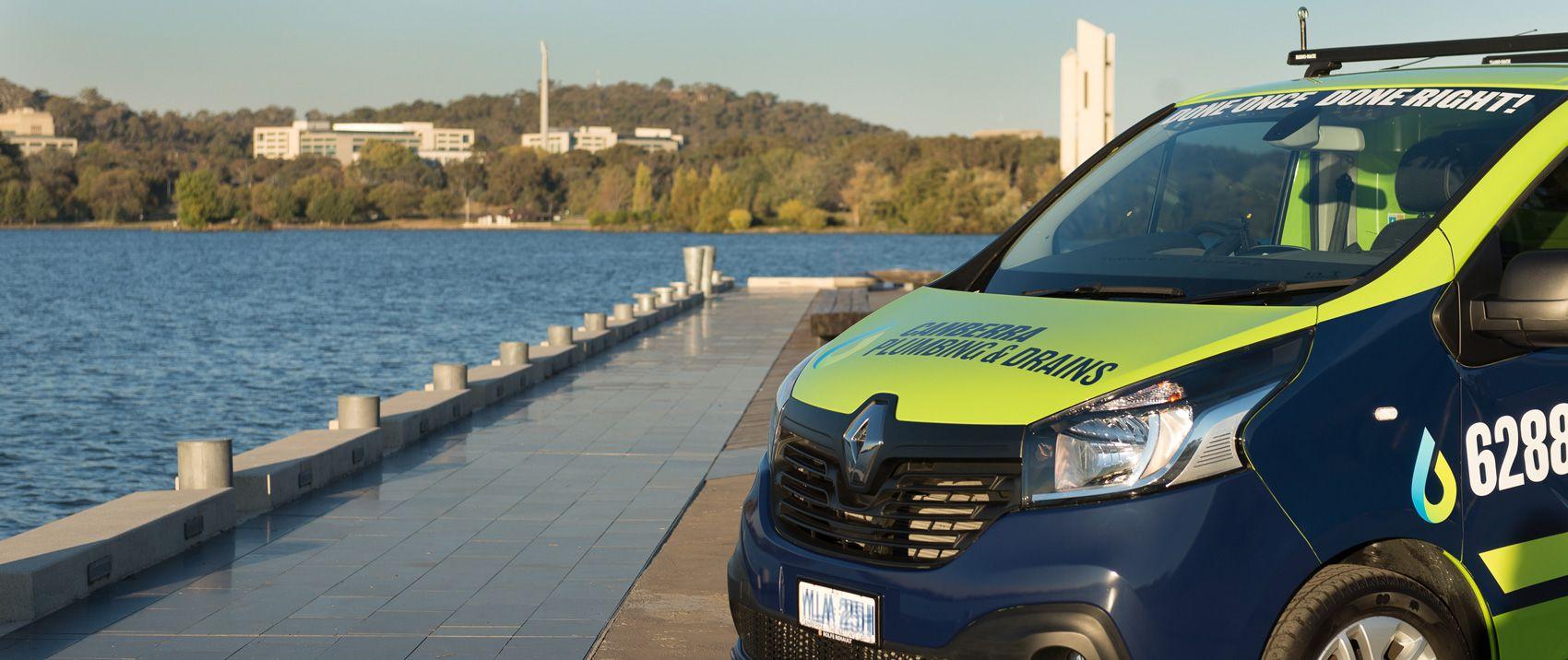 Plumbing van in Canberra area