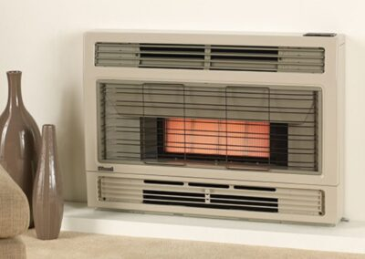 Console and inbuilt heaters